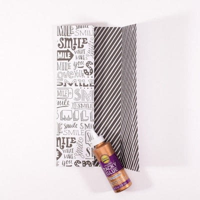 How to make gift wrap. Wine Tastic Gift Wrap - Step 11