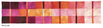 How to make a tablecloth / table runner. Modern Madras Reversible Table Runner - Step 4