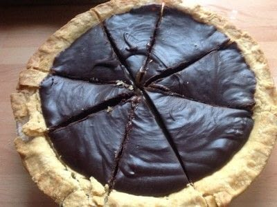 How to bake a chocolate tart. Baileys Caramel Tart - Step 9