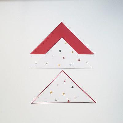 How to make a Christmas decoration. Diy Christmas Decoration: Paper Christmas Tree - Step 5