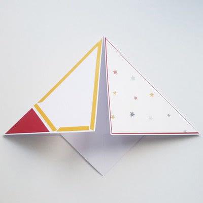 How to make a Christmas decoration. Diy Christmas Decoration: Paper Christmas Tree - Step 8