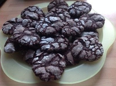 How to bake a cookie. Chocolate Crinkle Cookies  - Step 5