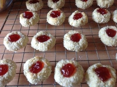 How to bake a jam drop. Coconut Jewels  - Step 7