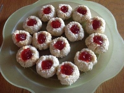 How to bake a jam drop. Coconut Jewels  - Step 8