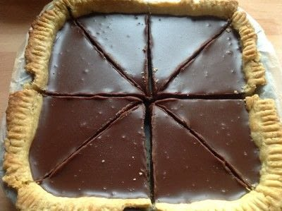 How to bake a chocolate tart. Double Chocolate Ganache Tarte - Step 7