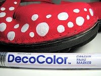How to paint a pair of patterned shoes. How To Paint Your Shoes - Step 4