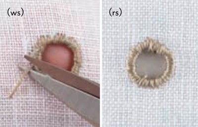 How to stitch . Broderie Anglaise Eyelet - Step 15
