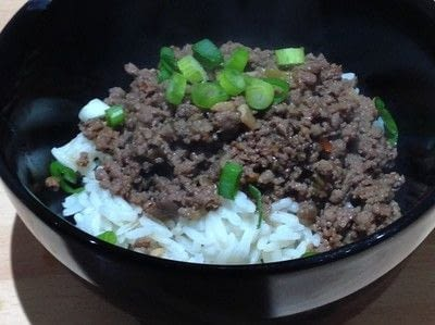 How to cook a beef dish. Korean Beef Bowl - Step 5
