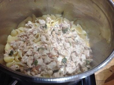 How to cook a chicken dish. Creamy Tomato & Chicken Pasta - Step 6