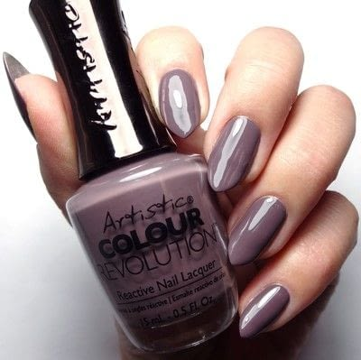 How to paint a nail painting. Taupe Of The A List - Step 1