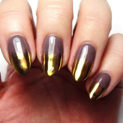 How to paint a nail painting. Taupe Of The A List - Step 3