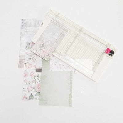 How to make a photo album. Romantic Vintage Photo Album - Step 1