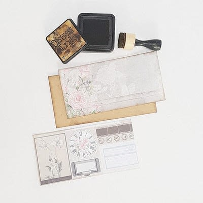 How to make a photo album. Romantic Vintage Photo Album - Step 3