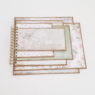 How to make a photo album. Romantic Vintage Photo Album - Step 7