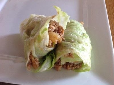 How to cook a chicken dish. Chicken & Lettuce Wraps - Step 4