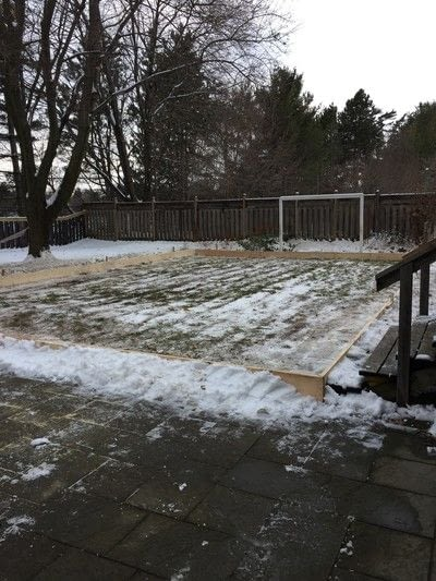 How to make a plushie toy. Diy Backyard Skating Rink - Step 4
