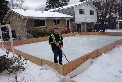 How to make a plushie toy. Diy Backyard Skating Rink - Step 6
