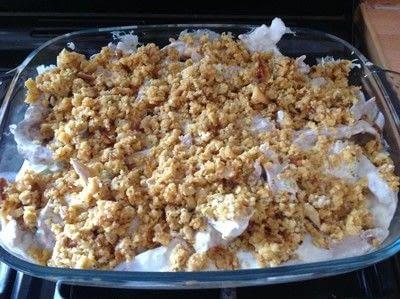 How to cook a chicken dish. Chicken Cracker Casserole  - Step 4