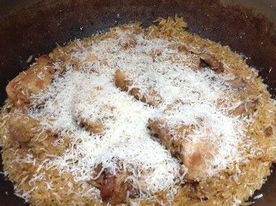 How to cook a chicken dish. Garlic Chicken & Rice - Step 7