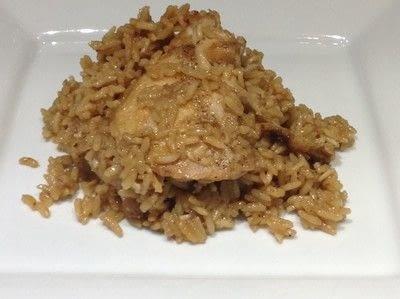 How to cook a chicken dish. Garlic Chicken & Rice - Step 8