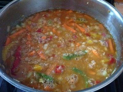 How to cook a pork dish. Bang Bang Pork Pasta - Step 3