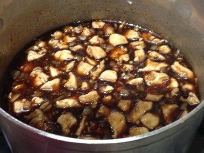 How to cook a chicken dish. Bourbon Chicken  - Step 4