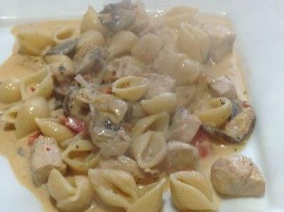 How to cook a chicken dish. Creamy Cajun Chicken Pasta - Step 11