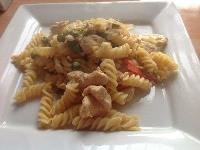 How to cook a chicken dish. Chipotle Chicken Pasta - Step 7