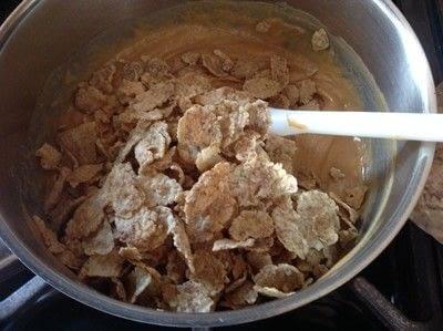How to bake a bar / slice. Butterfinger Bars - Step 3