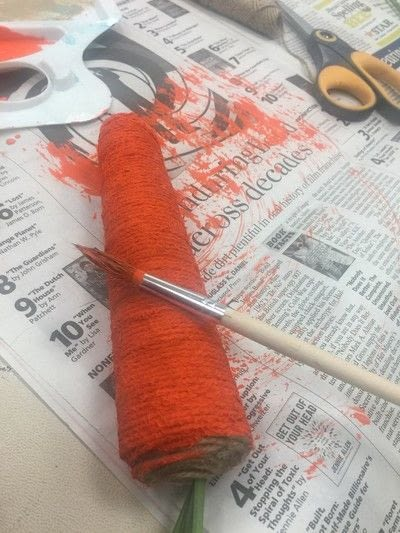 How to make an Easter basket. Twine Carrot  - Step 7