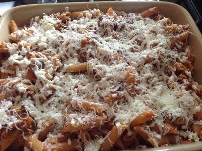 How to cook a casserole / bake. Beef & Tomato Pasta Bake - Step 6