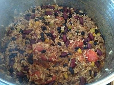 How to cook a beef dish. Taco Rice - Step 6
