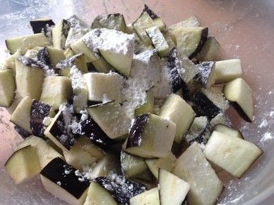How to cook a vegetable dish. Aubergine In Garlic Sauce  - Step 3