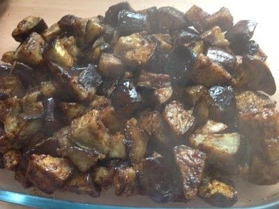 How to cook a vegetable dish. Aubergine In Garlic Sauce  - Step 8