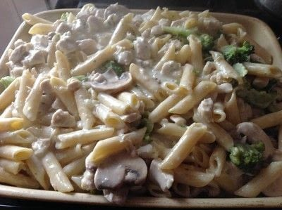 How to cook a casserole / bake. Chicken & Broccoli Pasta Bake - Step 4