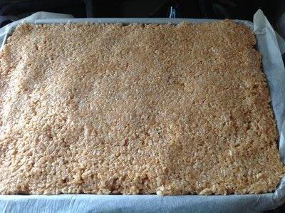 How to bake a bar / slice. Samoas Bars - Step 8
