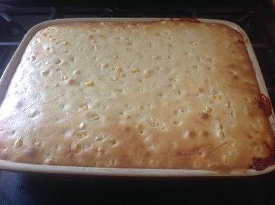How to cook a beef dish. Chilli Cornbread Casserole  - Step 9