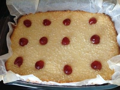How to bake a bar / slice. Pina Colada Bar - Step 8