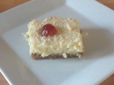 How to bake a bar / slice. Pina Colada Bar - Step 9