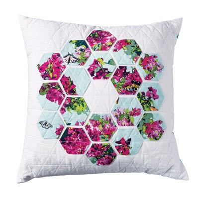 How to sew a patchwork cushion. Hexie Pillow - Step 12