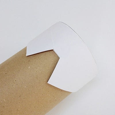 How to make a piece of paper art. Father's Day Bottle Sleeve Gift - Step 4