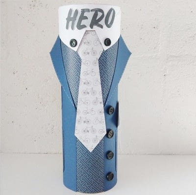 How to make a piece of paper art. Father's Day Bottle Sleeve Gift - Step 13