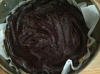 How to bake a sweet pie / sweet tart. Brownie & Cookie Pie - Step 10