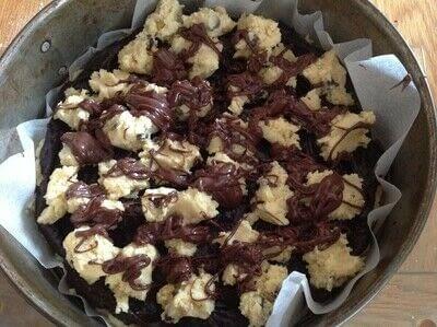 How to bake a sweet pie / sweet tart. Brownie & Cookie Pie - Step 12