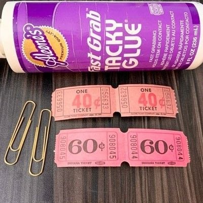 How to make a paper bookmark. Easy Vintage Ticket Paperclip - Step 1