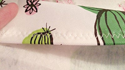 How to make a decoration. Repurposed Vinyl Tablecloth Pillows - Step 7