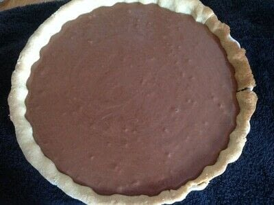 How to bake a chocolate tart. French Silk Pie - Step 10