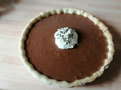 How to bake a chocolate tart. French Silk Pie - Step 11