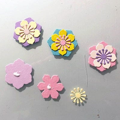 How to make a decoration. Spring Garland With Paper Flowers - Step 6