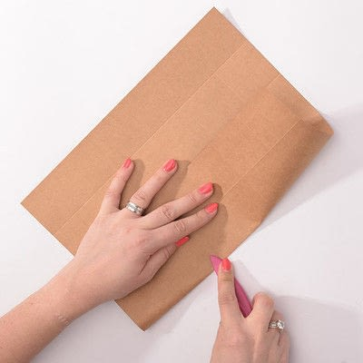 How to make gift wrap. Vintage Gift Box - Step 2